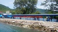 Pelabuhan kota Sabangmenyambut kedatangan pelacong