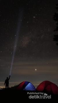 Milky way dari gunung Prau