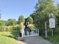Jembatan untuk menyeberang sungai yang harus kami tarik sendiri.