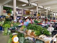 Blok penjual sayur di pasar