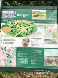 Papan informasi tentang Hunebedden yang ada di desa Borger