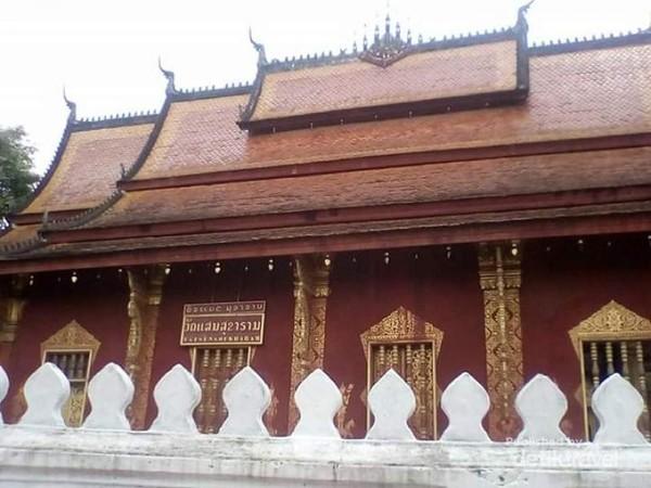 Sisi samping bangunan Wat Senshoukaram.