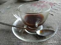 Secangkir kopi untuk memulai hari di Nong Khiaw.