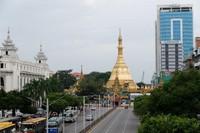 Sule Pagoda tampak dari atas JPO