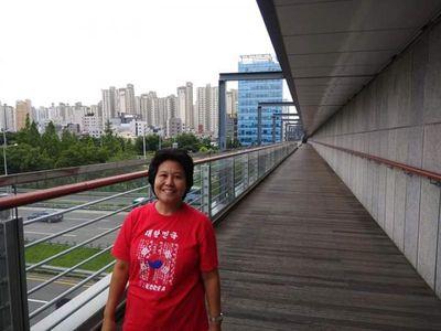 Potret Perkotaan Seoul dari Jembatan Hangang Yoidu Park