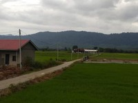 Perbukitan yang mengelilingi kampung Yooi.
