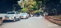Jalanan di tepian sungai mekong Luang Prabang