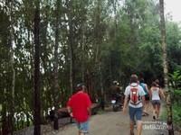 Semangat memasuki kawasan hutan Tra Su