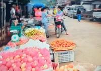 Pasar tradisional di Kota Vang Vieng.
