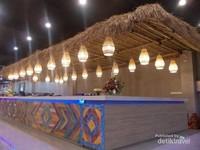 indahnya counter pembayaran di Sasaku menunjukkan khas Lombok