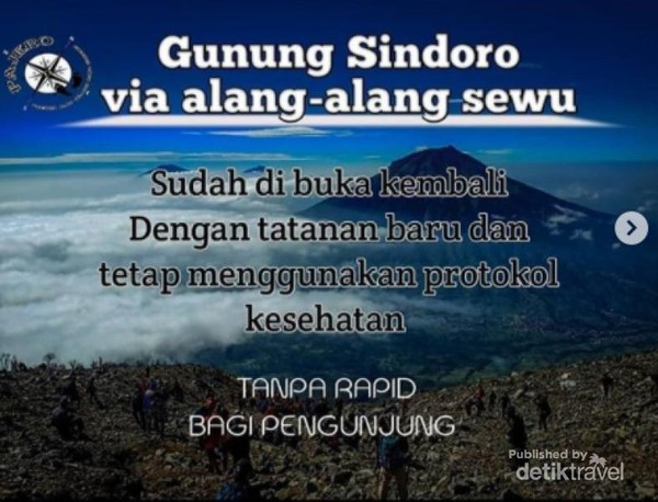 Gunung Sindoro Via Alang Alang Sewu Dibuka Ini Protokolnya