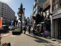 Salah satu sudut Kota Osaka di pagi hari sebelum warga lokal memulai aktivitasnya.