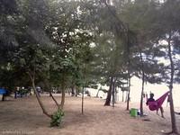 gantung hammock dan nikmati secangkir kop sambil menikmati keindahan pantai panrita lopi