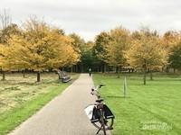 Di Belanda kita terbiasa menikmati pemandangan alam dengan bersepeda