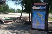 Papan informasi ini menunjukan letak dan luas Pulau ini sehingga mudah untuk mendapatkan informasi