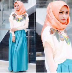 Hijab Style Tips Padu Padan Atasan Lengan Pendek
