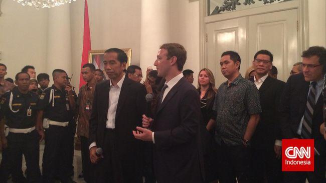 Zuckerberg dan Jokowi Blusukan ke Tanah Abang