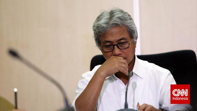Dwi Soetjipto memberikan keterangan saat pengumuman dirinya sebagai Direktur Utama PT Pertamina, di Kementrian BUMN, Jakarta, Jumat 28 November 2014.