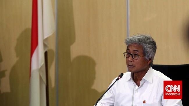 Dirut Pertamina Dwi Soetjipto memberikan keterangan dalam konferensi pers perdananya sebagai pimpinanBUMN migas tersebut.