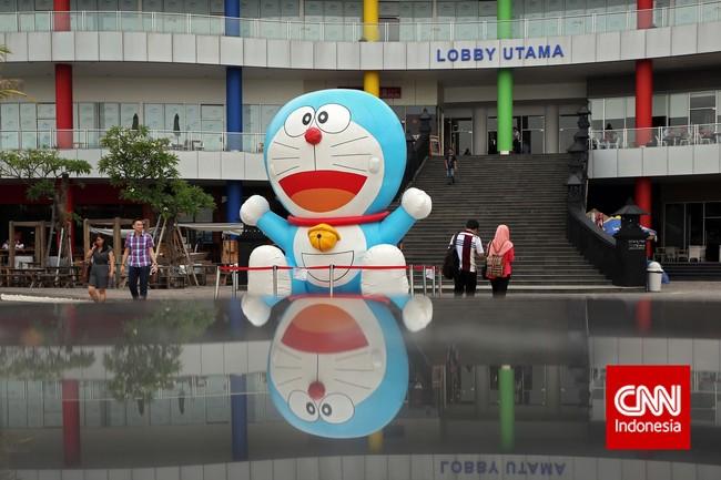 Bagi Anda penggemar Doraemon, Anda bisa langsung bertemu di robot kucing di Doraemon 100 Secret Gadget Expo yang berlangsung di Ancol Beach City Mall dari tanggal 28 November 2014 sampai 8 Maret 2015. (CNN Indonesia/Adhi Wicaksono)