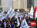 Ribuan Buruh Kepung Istana Setelah Salat Jumat