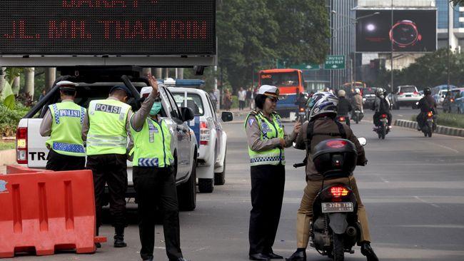 Uji Coba Pelarangan Sepeda Motor Selesai, Polisi Siap Tilang