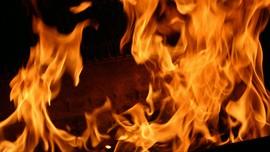 Kawasan Wisata Bukit Pandanan Lombok Utara Terbakar