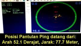 Basarnas: Sinyal Ping Berjarak 1,9 Mil Laut dari Ekor Pesawat