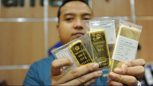 Harga Emas Antam Tak Bergerak dari Rp664.500 per Gram