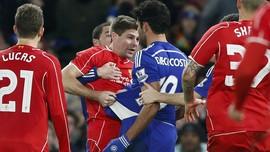 Rekam Foto Tarung Kedua Chelsea vs Liverpool