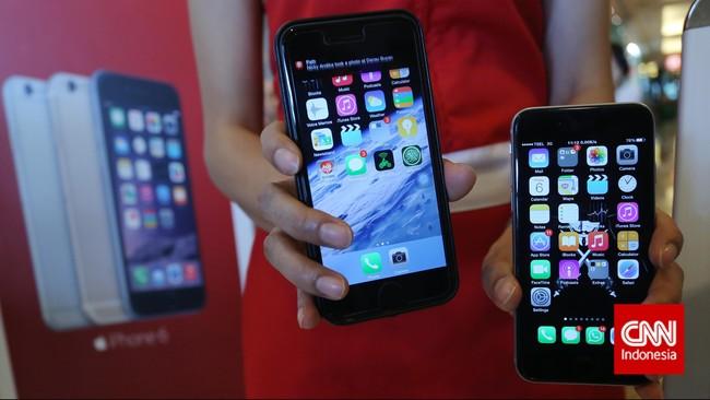 iPhone 6 dan iPhone 6 Plus tersedia dalam berbagai kapasitas mulai dari 16 GB hingga 128 GB (CNN Indonesia/Adhi Wicaksono)