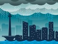 Jalanan Jakarta yang Ditenggelamkan Banjir