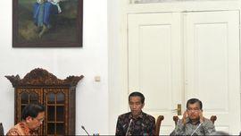 Jokowi, JK, dan Surya Paloh Berkumpul di Istana Presiden