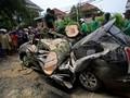 Sejumlah Pohon Tumbang Diterpa Hujan Angin Jakarta