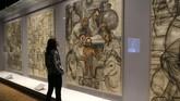 Pameran lukisan karya Frida Kahlo dan Diego Rivera digelar di Detroit Institute of Arts pada 15 Maret-12 Juli 2015, merupakan pameran terbesar yang pernah di gelar di kota di Michigan, AS, tersebut. (REUTERS/Rebecca Cook)