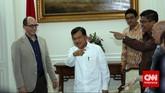 Dick Costolo mengatakan, Twitter bisa menjadi platform komunikasi untuk kerjasama antara pemerintah Indonesia dan Twitter. (CNN Indonesia/Adhi Wicaksono)