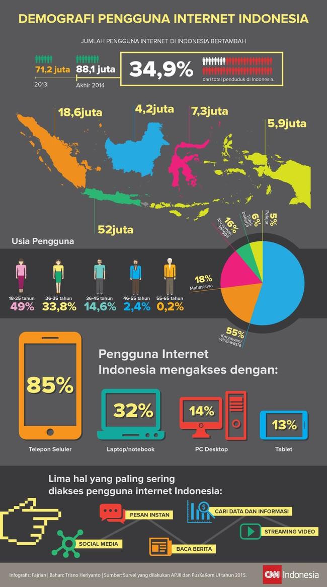 Demografi Pengguna Internet Indonesia
