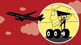 Perjalanan Gila Mario di Roda Pesawat