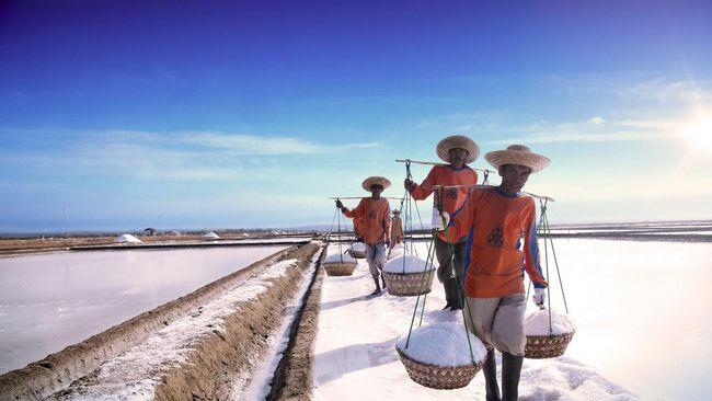 Jokowi Sebut Impor Garam Industri Realistis