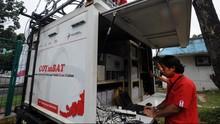 Jangkauan Mobile BTS di Lokasi Gempa Lombok Tak Sebaik Menara