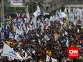 Peringatan May Day, 150 Ribu Buruh 'Kepung' Istana Merdeka