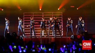 Joget Kocak Super Junior Tirukan Gaya Girlband Korea