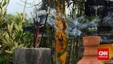 Beberapa dupa terlihat masih menyala di tempat sembahyang. Pertanda setiap harinya ada orang yang datang ke pura ini untuk bersembahyang. Angin semilir mengembus, udara yang sejuk, suasana yang hening, menemani para umat ketika beribadah sehingga suasana terasa lebih khidmat. (CNN Indonesia/Tri Wahyuni)