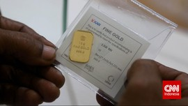 Emas Antam Turun Jadi Rp665 Ribu per Gram di Awal Pekan