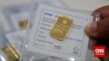 Harga Emas Antam Turun ke Rp743 Ribu per Gram