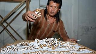 Sri Mulyani Ingin Tekan Peredaran Rokok Ilegal Jadi 3 Persen