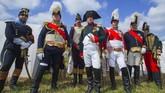 Perang Waterloo terjadi pada Ahad, 18 Juni 1815.Perang ini menyebabkan kekalahan militer Perancis yang dipimpin oleh Kaisar Napoleon Bonaparte dari militer Tujuh Sekutu dibawah kepemimpinan Duke Wellington.(Reuters/Yves Herman)