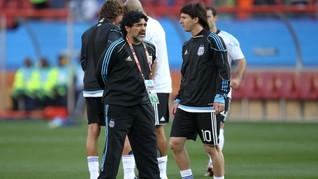 Dikritik Maradona, Messi Dibela Saudara dan Rekan di Timnas