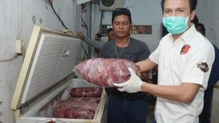 Pemda Sumsel Operasi Patuh 8 Ton Jeroan Babi Hutan