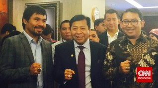Fadli Zon-Setnov Hadiahi Pacquiao Cincin Akik dan Keris
